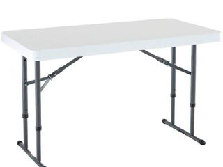 lifetime 4  Adjustable Folding Table  White Granite