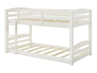 Dorel living Sierra Twin Over Twin Bunk Bed in White
