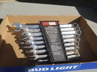 18pc SAE/Metric Combination Wrench Set