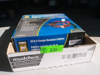16ft 6 gauge booster cables