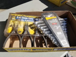 4pc Snap Wring Pliers Set, With Combination