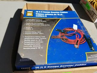 New, 16ft 6 Gauge Booster Cables, Power Fist
