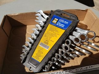 22pc SAE/Metric Combination Wrench Set