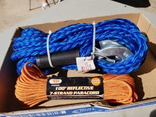Toe Rope 7/8inch x 14ft, And 7 Strand Paracord,