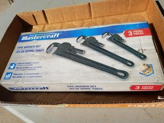 Mastercraft 3pc Pipe Wrench Set