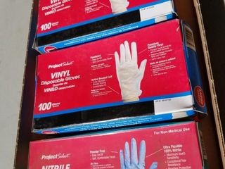 2 Boxes Of 100 Vylan Disposable Gloves, And Box