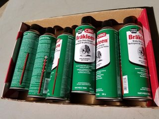 New, 6 Cans CRC Brakleen Brake Parts Cleaner