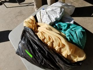 Bag Of Assorted Cloths, Sheets, And More