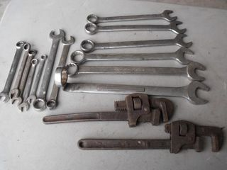 Combination & Adjustable Wrench Lot