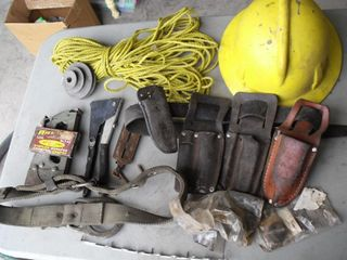 Safety Belt, Riveter, Stapler, Hard Hat, & More