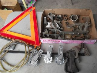 Safety Triangle, Quick Clamp, Misc. Lot