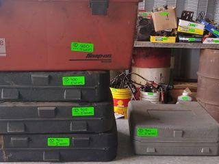 5 empty tool cases/box