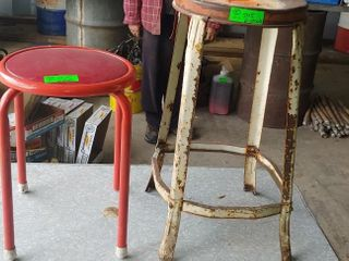 2 stools- 18 inches and 25 inches tall
