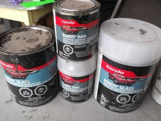 Bondo Fiberglass Filler and Fiberglass Hair