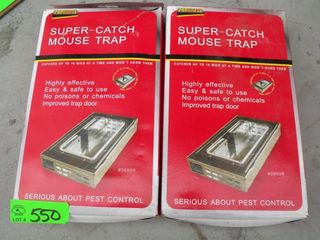 New Super Catch Mouse Traps - Lot of 2