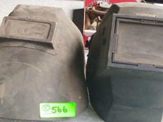 2 welding helmets- adjustable sizes