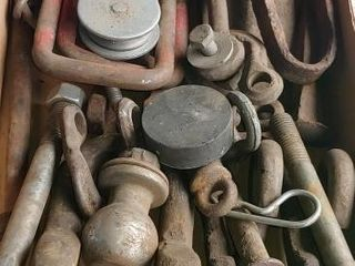 Drop pins, pulleys, clevases, axe head plus more