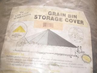 10000 Bushell Wooden Bin Ring & New Tarp