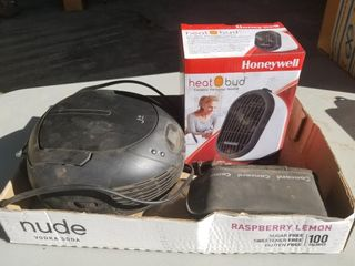 Heatbud Personal Heater, Concord Camera, And CD