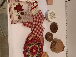 Assorted trivets and coasters