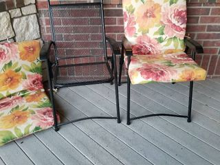 Patio chairs with cushions set of 2