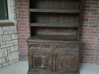 Wood hutch approximately 6  by 4