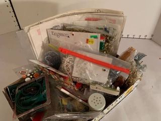 Box of craft items
