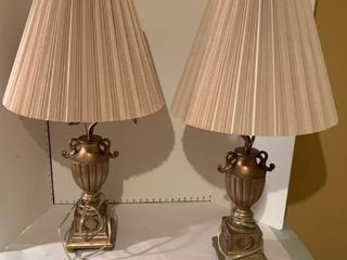 Set of two decorative lamps