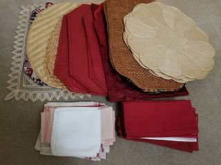 Assorted placemats and napkins