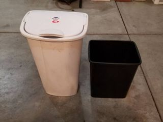 2 large trash cans