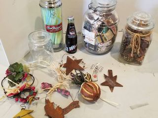 Dr Pepper straw holder  WSU Dr Peppers bottle  jars and decor