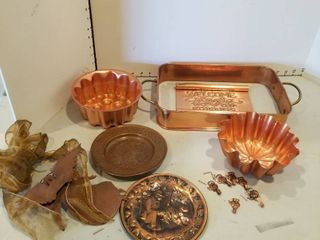 Assorted copper decor