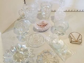 Assorted glass items