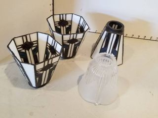 Tiffany style lamp shades set of 3 and glass lamp shade