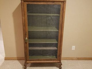 Pie safe cabinet 58  by 30  by 14