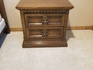 Side table   2 drawers 24 by 26 by 17