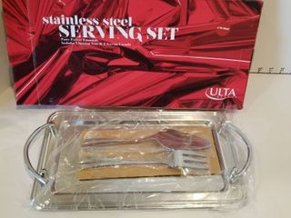 Stainless steel serving set new in box