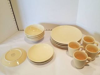 Set of 4 place setting dishes