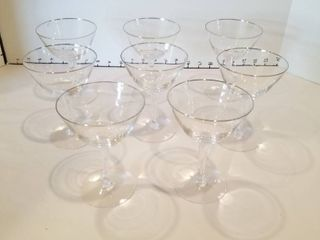 Set of 8 Fostoria glasses