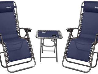 Zero Gravity Chair Folding lounge Table  1  Chair  2  Set