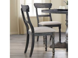 Best Master Furniture Weathered Gray Side Chair   Set of 2
