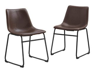 Worthington Faux leather Dining Chairs by River Street Designs