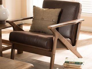 Baxton Studio Bianca Mid century lounge Chair