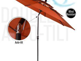 Outdoor Auto tilt Patio Market Umbrella with Double Vented Retail 185 49