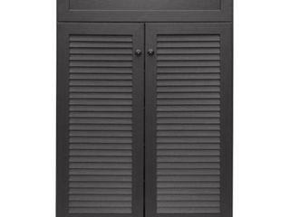 Harding Espresso Shoe Storage Cabinet