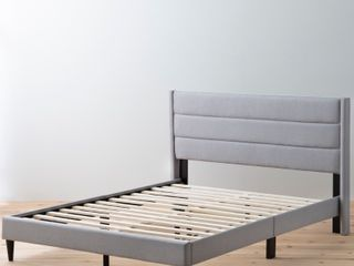Brookside Sara Full Upholstered Bed w  Horizontal Channels   Queen