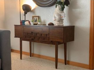 Carson Carrington Tessuto Tobacco Finish 4 drawer Sofa Table