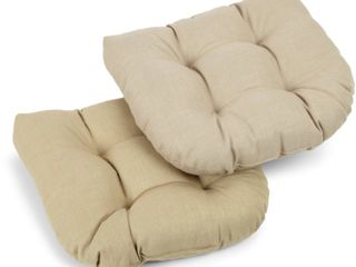 Blazing Needles 19 inch All Weather Chair Cushions   Set of 2