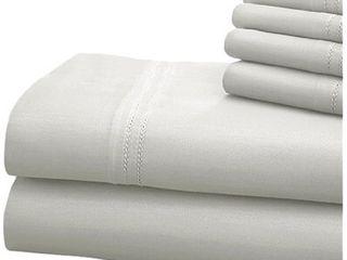 Modern Threads 1000 Thread Count Blend Double Hem Stitch 6 piece Bed Sheet Set   Cali King
