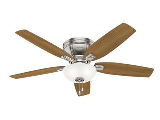 Hunter 52  Kenbridge Brushed Nickel Ceiling Fan with light Kit and Pull Chain